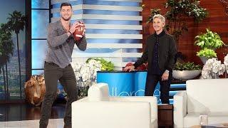 Tim Tebow and Andy Play Catch for a Good Cause