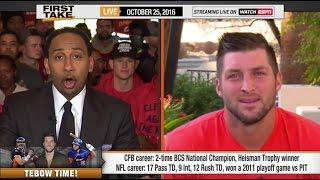 ESPN First Take - Tim Tebow vs. Stephen A. Smith Debate!