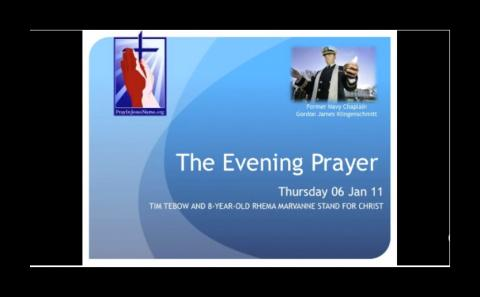 Tim Tebow and 8-Year-Old Rhema Marvanne Stand for Christ (The Evening Prayer - 06 Jan 11) - Inspirat
